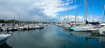 Antibes - Sailboats Royalty Free Stock Photo