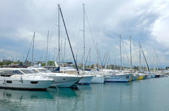 Antibes - Sailboats Royalty Free Stock Image