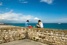 Antibes - Women relaxing Stock Photos