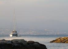 Antibes zu Nizza südlich von Frankreich lizenzfreie stockfotos