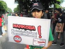 Antibetäubungsmittelkampagne Stockbilder