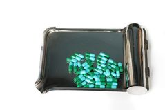 Antibiotic capsule Royalty Free Stock Images