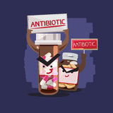 Antibiotic. charcter design -  Royalty Free Stock Photo