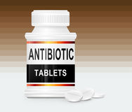 Antibiotic tablets. Royalty Free Stock Photos