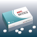 Antibiotics Pills Medicines Royalty Free Stock Photography