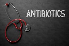 Antibiotiques manuscrits sur le tableau illustration 3D photographie stock libre de droits