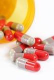 Antibiotische Capsules stock afbeeldingen