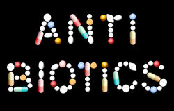 Antibiotische Pillengeneeskunde Royalty-vrije Stock Afbeelding