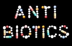 Antibiotisk preventivpillermedicin Royaltyfri Bild