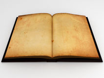 Antic book. Open antic book with empty pages Royalty Free Stock Image