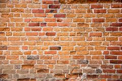 Antic brick texture on the wall of an old Turaida castle in Latvia. Architecture background Stock Photo