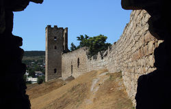 Antic castle at Feodosia Royalty Free Stock Photography