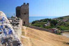 Antic castle at Feodosia Stock Photo