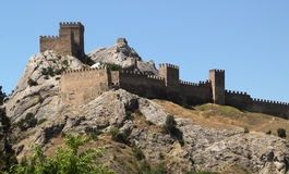 Antic castle at Sudak Royalty Free Stock Photo