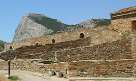 Antic castle at Sudak Royalty Free Stock Photography