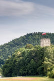Antic castle with trees in Poland Royalty Free Stock Photo