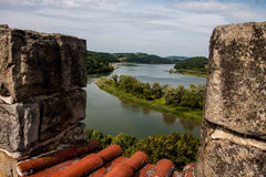 Antic castle with trees in Poland Stock Photos