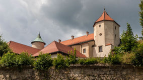 Antic castle with trees in Poland Stock Image