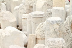Antic columns. Lots of stone marble ancient antic columns Stock Image