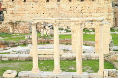 Antic columns. Stone marble ancient antic columns Royalty Free Stock Photography