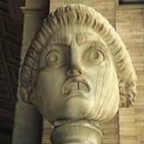Antic drama roman mask, Rome, Italy Stock Photo