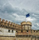 Antic fort. In Roma city Stock Photo