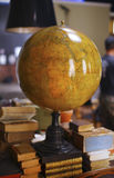 Antic globe. Of the planet Earth Stock Image