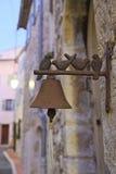 Antic Glocke der schönen Tür stockfoto
