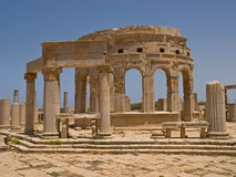 The antic market-hall. Image of the ruin of the antic market-hall in lybian Laptis Magna Stock Image
