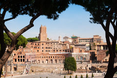 Antic Rome ruins. Pictoresque view on antic Rome ruins, Italy Royalty Free Stock Photos