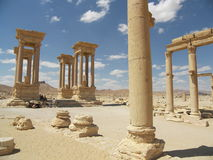 Antic ruins in desert Royalty Free Stock Image
