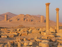 Antic ruins in desert Stock Photography