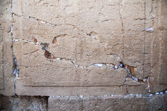 Antic stone of the wailing wall Stock Image
