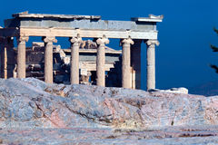 Antic temple Erechteion, Acropolis, Athens. Greece Royalty Free Stock Photography