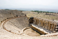 Antic theater in Hierapolis Stock Photo