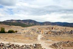 Antic Theater Pamukkale in der Türkei Lizenzfreies Stockfoto