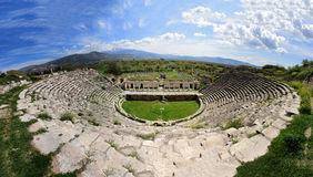 Antic Theather. Aphrordisias antic tehather history old Royalty Free Stock Images