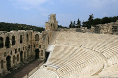 Antic theatre in Athens Royalty Free Stock Images