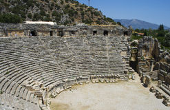 Antic Theatre in Myra Royalty Free Stock Photography