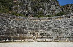 Antic Theatre in Myra Royalty Free Stock Photo