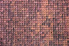 Antic Tile texture on the roof of an old Kuldiga house in Latvia. Stock Images