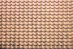 Antic Tile texture on the roof of an old Turaida castle in Latvia. Architecture background Stock Images