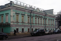 Antic two-storey building in Moscow Stock Photo