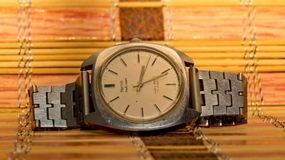 Antic Watch-An automatic or self-winding watch in golden light Stock Photo