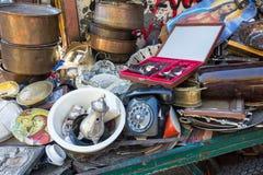 Anticaglie del mercato delle pulci Fotografia Stock