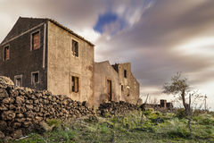 Antichi palmenti siciliani. An Old abandoned winery (palmento) in Sicily royalty free illustration