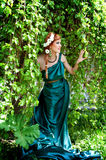 Antichità. Ritratto di bella ragazza attraente. Immagini Stock Libere da Diritti