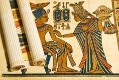 Anticient egyptisk papyrus och scroll Royaltyfri Foto