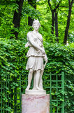 Anticient statue in Summer garden in Saint-Petersburg Stock Photography