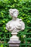Anticient statue in Summer garden in Saint-Petersburg Stock Photography
